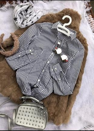 Крута блузка блузза h&m сорочка морячка рубашка кофта блузка в полоску