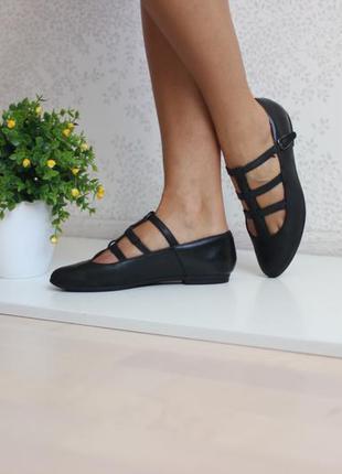 Кожаные туфли балетки мокасины, бренд clarks