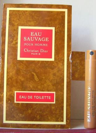 Christian dior eau sauvage - edt - 1.2 мл. оригінал.