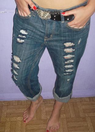 Фирменные рваные джинсы бойфренды tom tailor