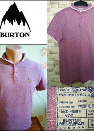 Стильная футболка пoлo burton menswear london made in mauritius, 💯 оригинал