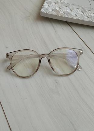 Очки компьютерные, очки с антибликом, прозрачная оправа
