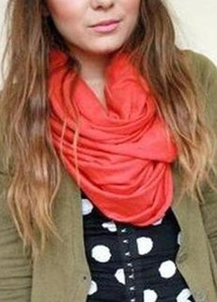 Оранжевий снуд , хомут , шарф atmosphere