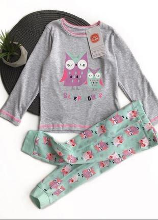 Хлопковая пижама с совой
