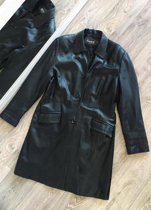 Пальто плащ из натуральной кожи размер м-л под zara