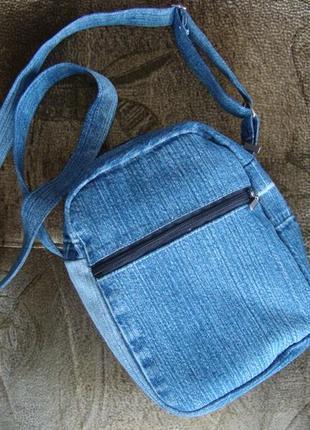Джинсовая сумка через плечо