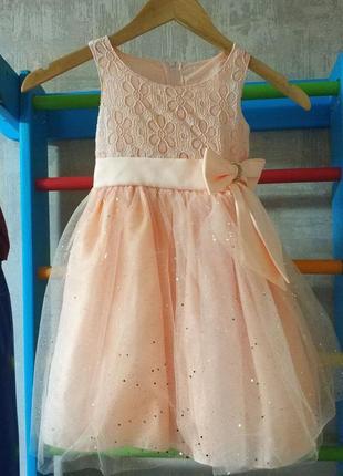 Нарядное платье для принцессы на 4-5 лет, рост до 116