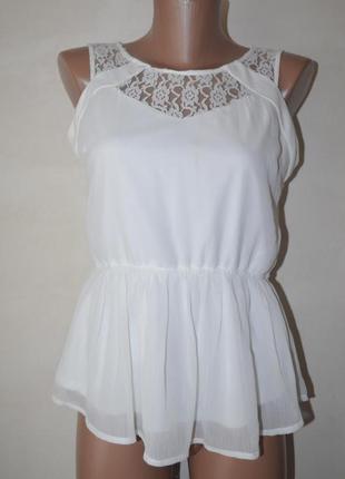 Блузка кружево баска