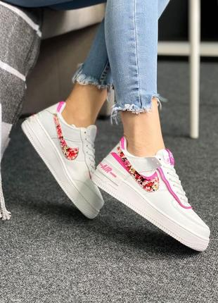 Nike кроссовки flowers pink