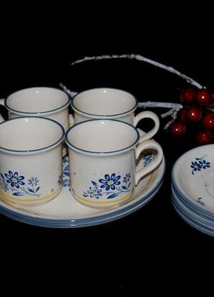 Старинный 50х тарелки чашки сервиз фарфор англия bilton клеймо ретро