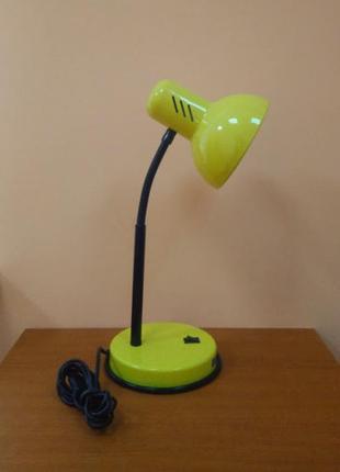 Настольная лампа лимонно-желтая