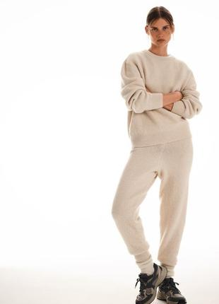Трикотажные брюки zara с высокой посадкой