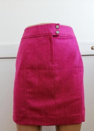 Юбка короткая шерсть тёплая женская розовая