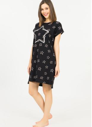 Ночная рубашка-туника vienetta турция, s,м,l,xl