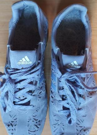 Фиолетовые замшевые кроссовки adidas