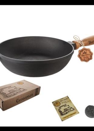 Сковорода чугунная литая