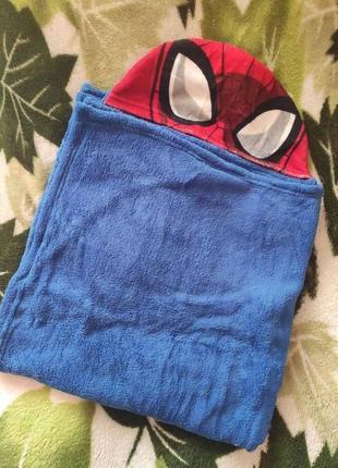 Полотенце с капюшоном челоаек паук дисней