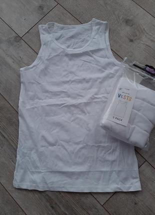 Белая майка футболка george на мальчика р.152 - 158 - 164 см