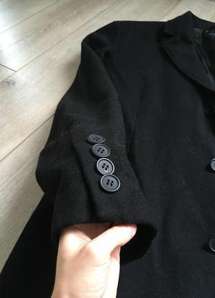 Шерстяное мужское пальто