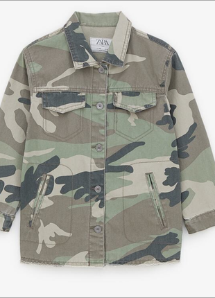 Котоновый пиджак в стиле милитари 13-14 лет от zara