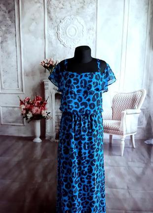 Стильное платье сарафан макси шифон