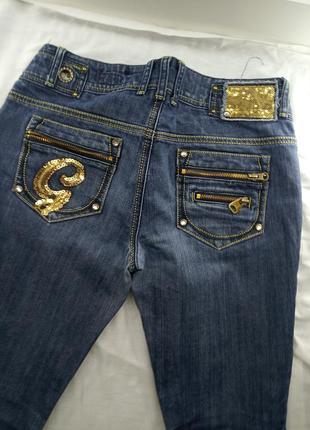Golddigga джинсы с паетками стильные брендовые с замками снизу низкая посадка