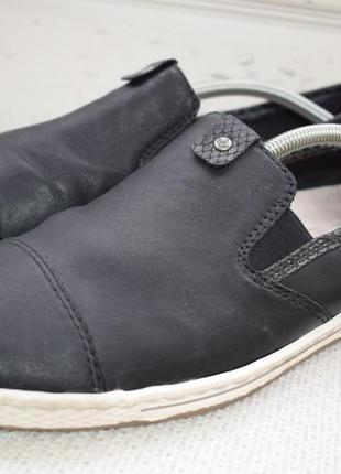 Кожаные туфли мокасины слипоны riekerр.41 27 см