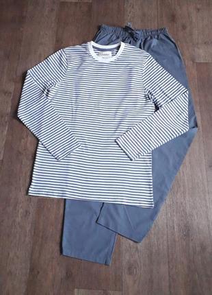 Мужская пижама, домашний костюм livergy германия s 44/46