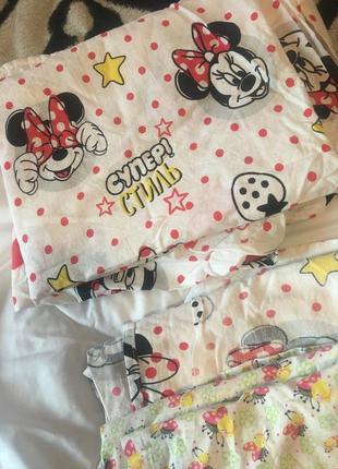Комплект белья в кроватку + одеяло