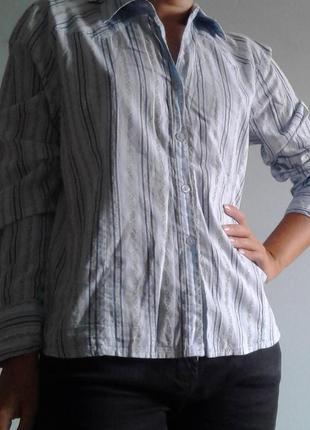 Голубая в полосочку рубашка editions