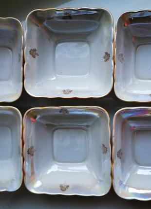 Набор салатников 6+1 ссср. фарфор
