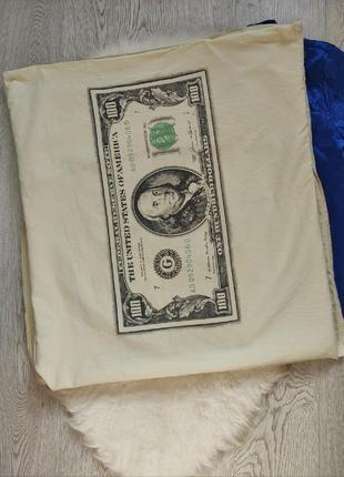 Белые натуральные хлопок наволочки на подушку с принтом рисунком бакса доллара