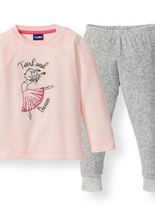 Велюровая пижама для девочки комплект для дома и отдыха