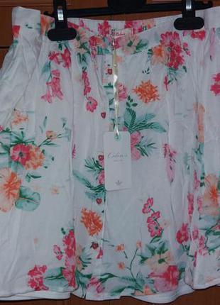 Летняя цветочная юбка