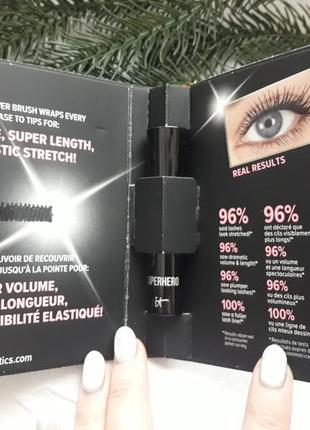 Тушь для ресниц it cosmetics superhero mascara mini: