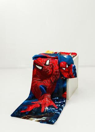 Детские плед с рукавами spiderman