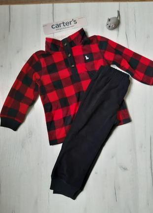 Новый теплый флисовый костюм для мальчика carter's картерс