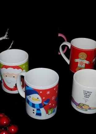 Набор чашки дисней новогодние новые год эксклюзив яркие необычные кружка