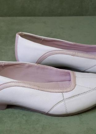 Кожаные балетки туфли мокасины clarks 39 р.