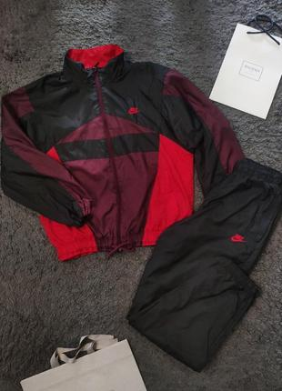 Спортивный нейлоновый костюм винтаж nike vintage nylon olympic jacket and pants