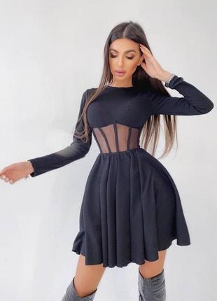 Платье с корсетной вставкой3 фото