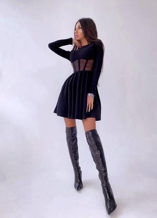 Платье с корсетной вставкой4 фото
