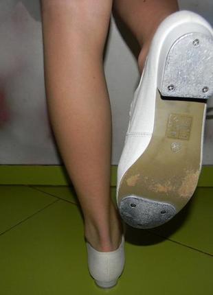 Туфли белые для танцев rv  на девочку 36,5 р5 фото