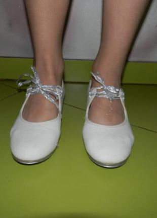 Туфли белые для танцев rv  на девочку 36,5 р10 фото