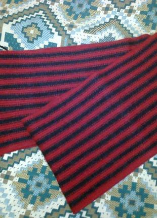Шарф красно-чорный полосатый