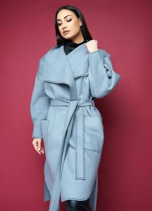 Стильное пальто батал