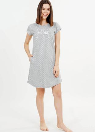 Ночная рубашка vienetta турция, м,l,xl,2xl