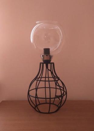 Настольная лампа ночник в стиле лофт