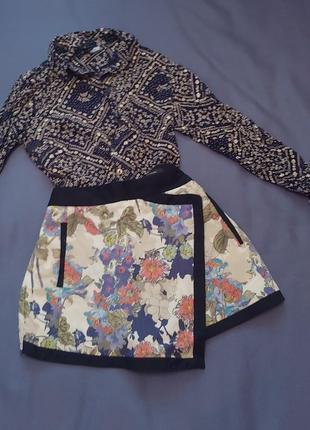 Юбка шорты набор рубашка с шортами лук набор готовый образ