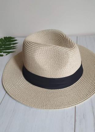 Летняя женская шляпа федора, шляпа пляжная соломенная канотье, ковбойка